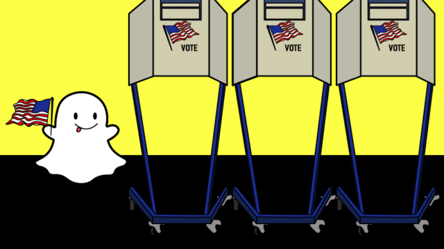 snapchat ghost at the polling booth