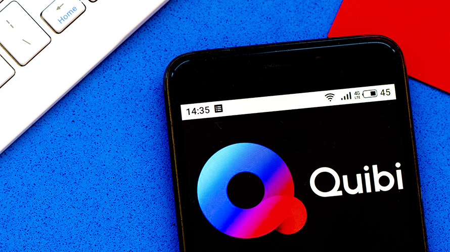 logo of quibi on a cellphone