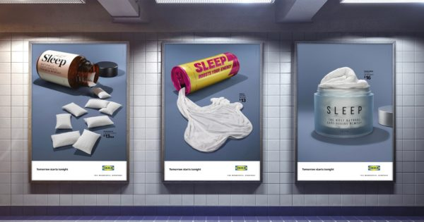 Ikea's Brilliant Sleep Posters Will Make You Look Twice