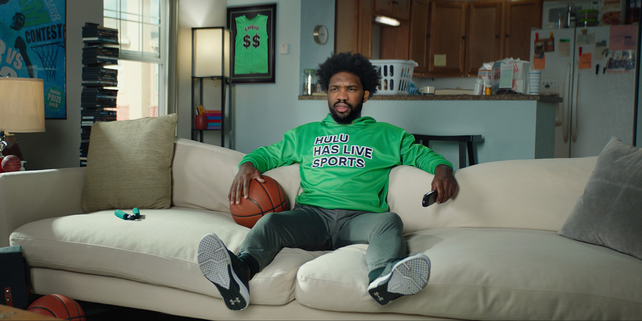Screenshot of Joel Embiid from Hulu Sellouts ad