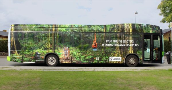 A Bus Ad Found a Stark Way to Show the Pace of Wildlife Loss
