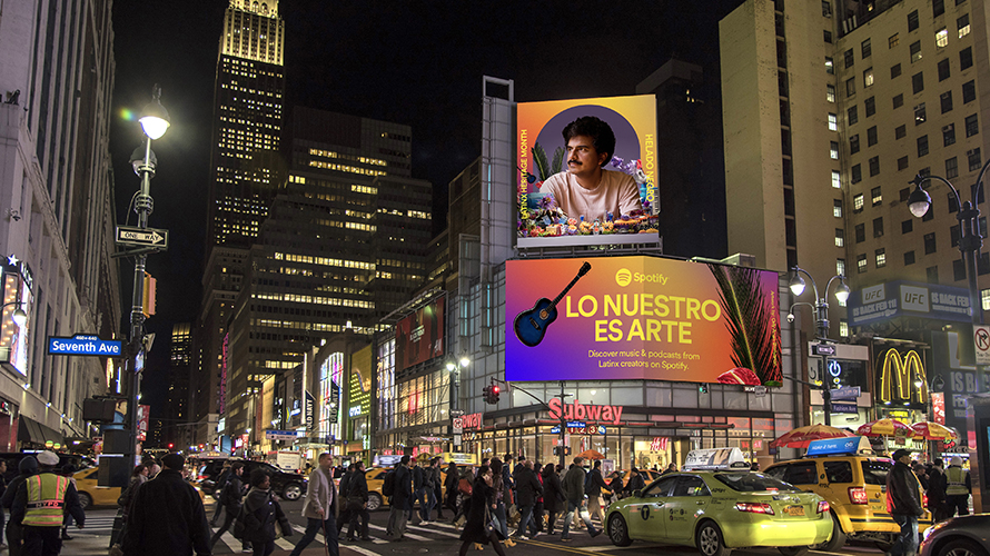 Photo of a Spotify billboard