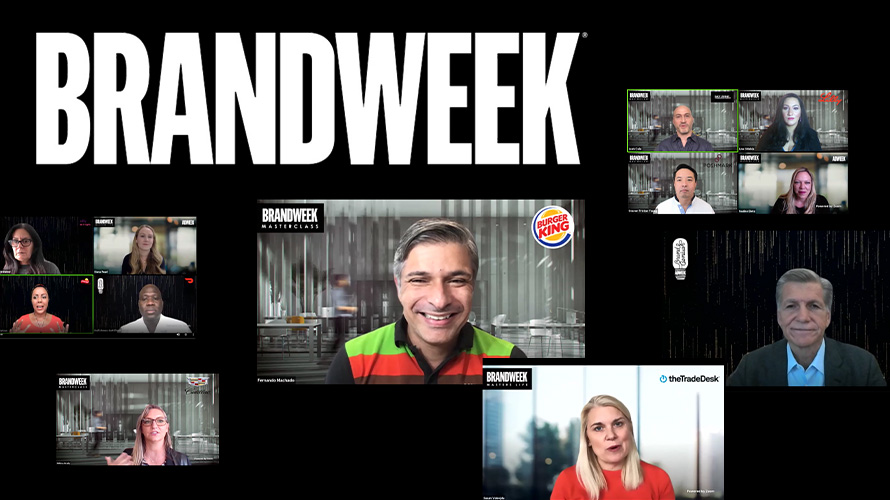 Brandweek logo with Zoom screenshots