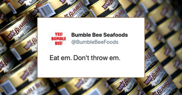 Bumble Bee Deftly Responds to Trump Calling Its Cans Weapons