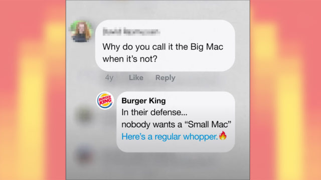 When McDonald's Didn't Respond to Customers on Facebook, Burger King Decided to Jump In