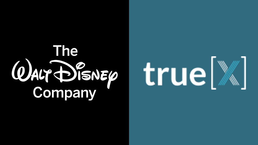 The Walt Disney Company and TrueX logos