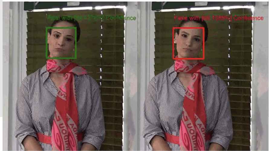 Example of the Microsoft deepfake tool