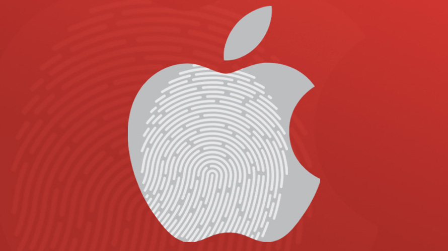 Apple logo with fingerprints
