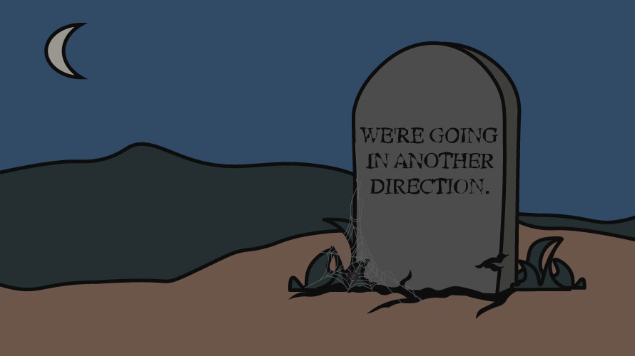 Illustration of a tombstone