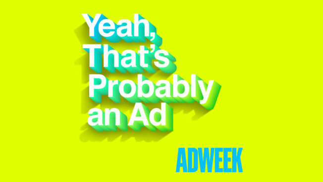 yeah that's probably an ad text on a bright yellow background