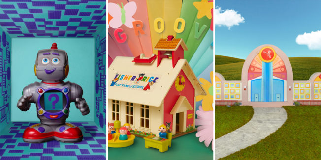 Images from Fisher-Price's virtual toy museum