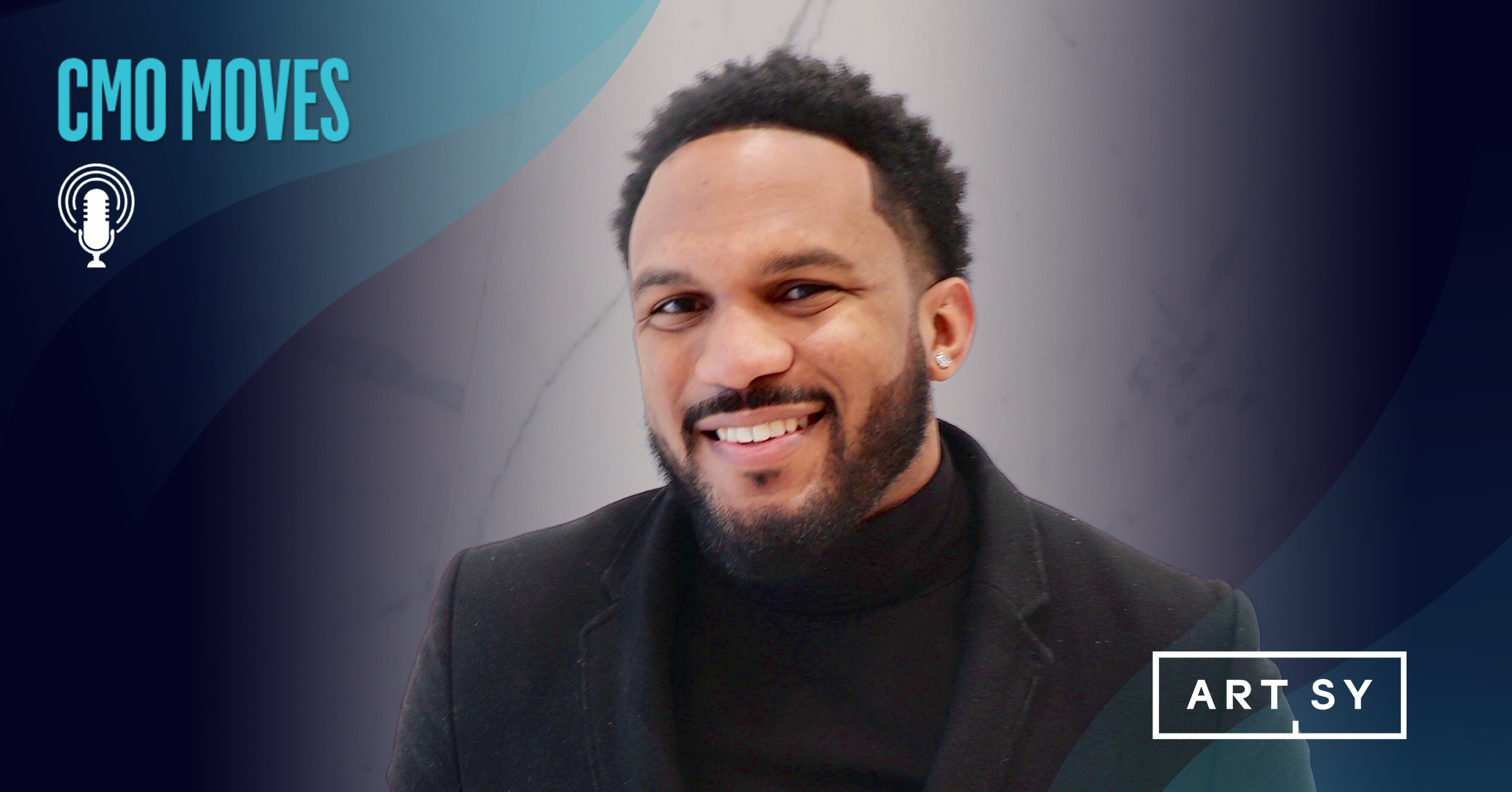 Photo of Everette Taylor with the CMO Moves podcast logo