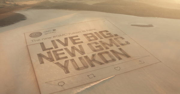 GMC Creates the World's Biggest Tweet to Promote Its 2021 GMC Yukon