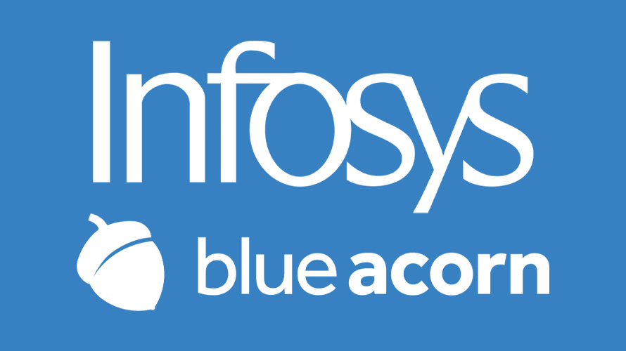 Infosys and Blue Acorn logos