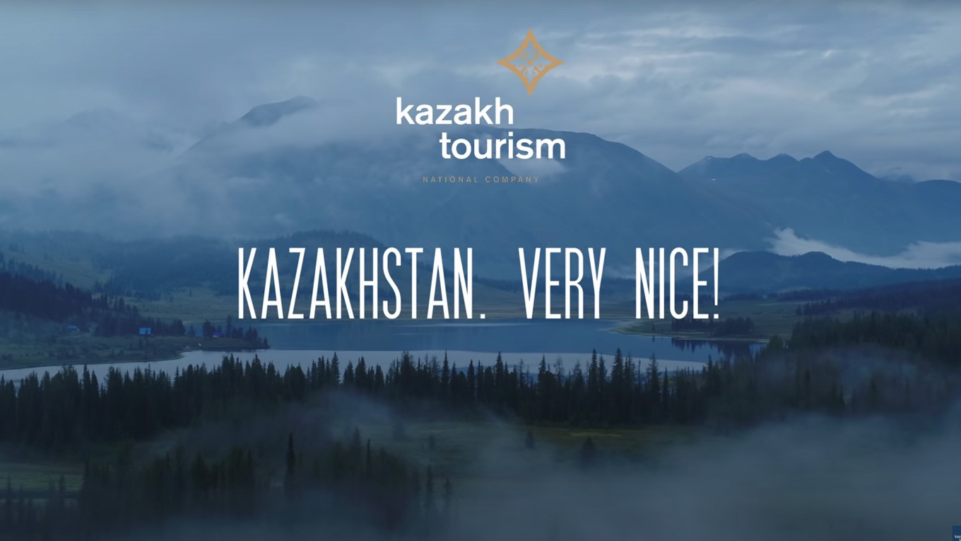 Screenshot from Kazkh tourism agency's 'Very Nice' spots