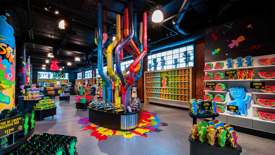 a colorful sour patch kids store