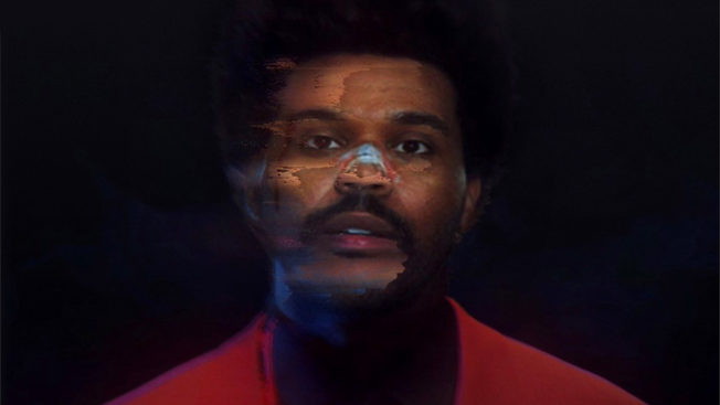 a somewhat blurry photo of the weeknd that looks computer generated