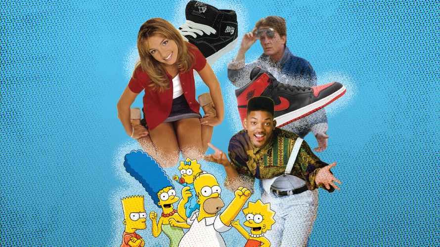 images of britney spears, will smith, marty mcfly, the simpsons and air jordan shoes