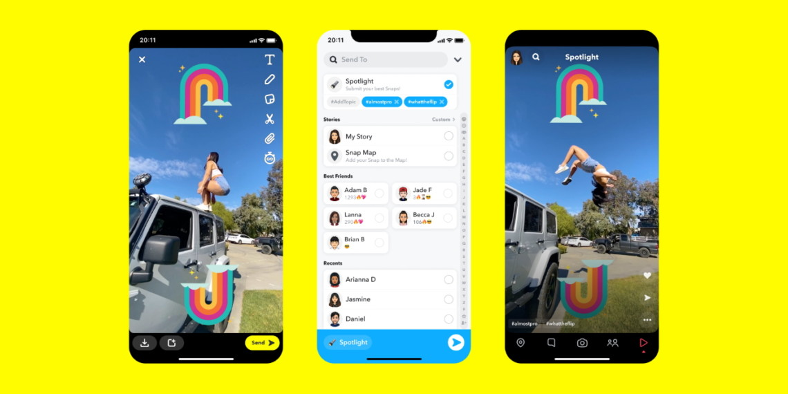 Snapchat launches 'Spotlight' to compete with TikTok