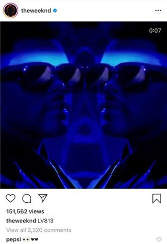 dark mirrored images of the weeknd on instagram