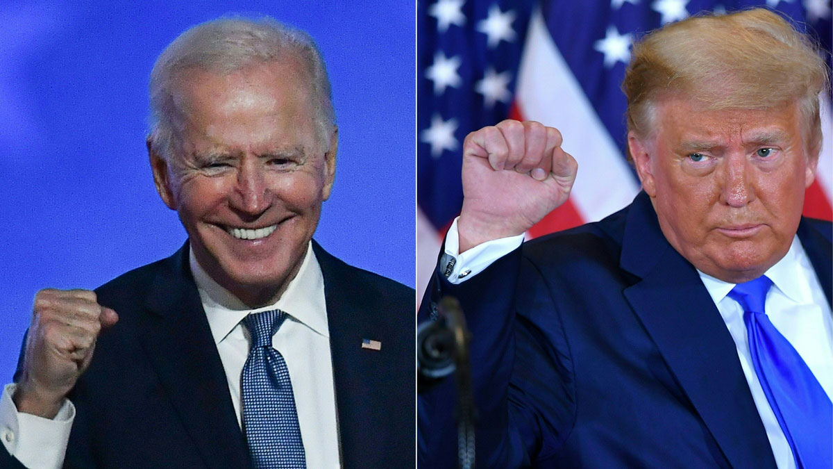 Photo of Joe Biden and Donald Trump