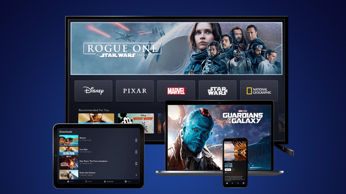 Screenshot of Disney+