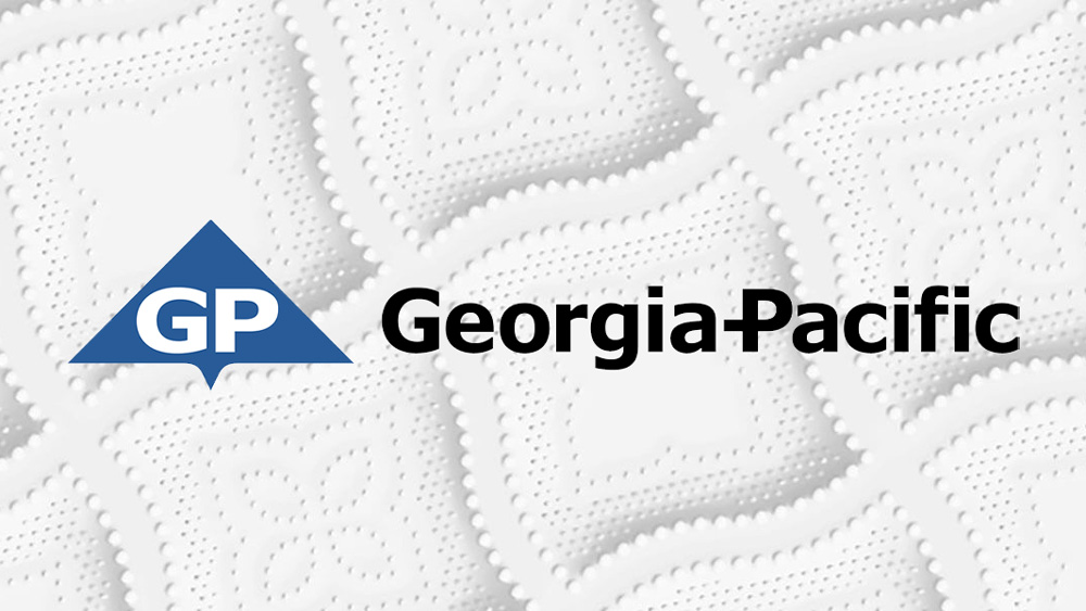 a paper towel with the logo georgia-pacific across it