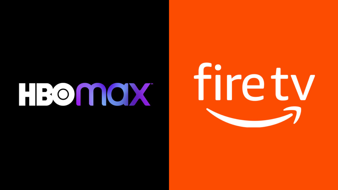 hbo max logo on left and fire tv logo