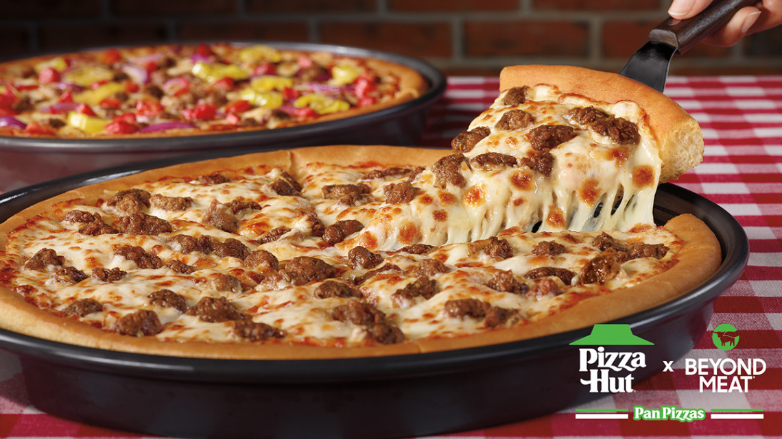 Pizza Hut Adds Plant Based Meat To The Menu Marking A First For National Pizza Chains