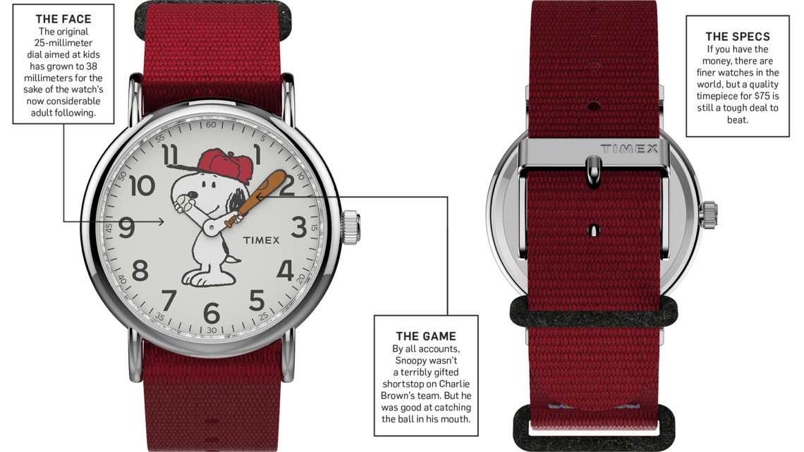 timex watches with snoopy on them