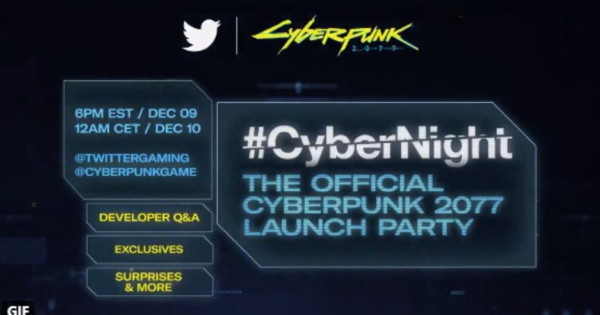 Twitter, CD Projekt Red to Host Launch Party for Cyberpunk 2077