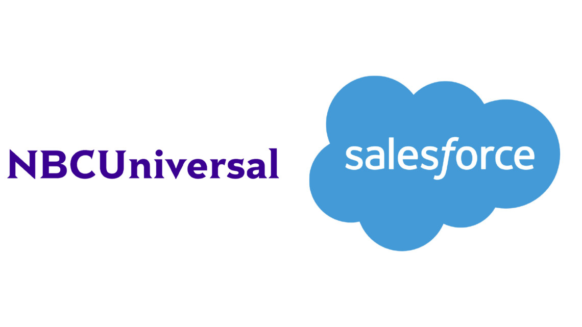 The NBCUniversal and Salesforce logos