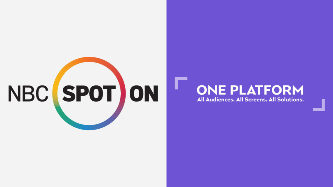 NBC's Spot On and NBCUniversal's One Platform logos
