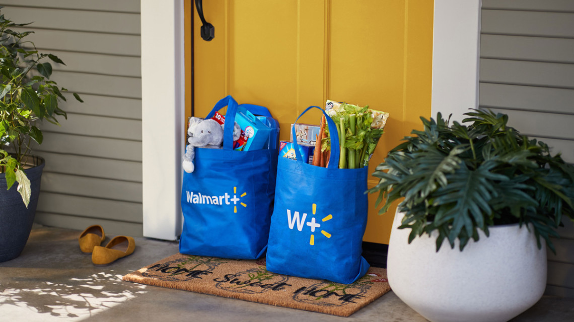 Photo of Walmart+ bags and groceries