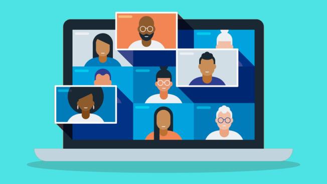 Illustration of a video chat screen