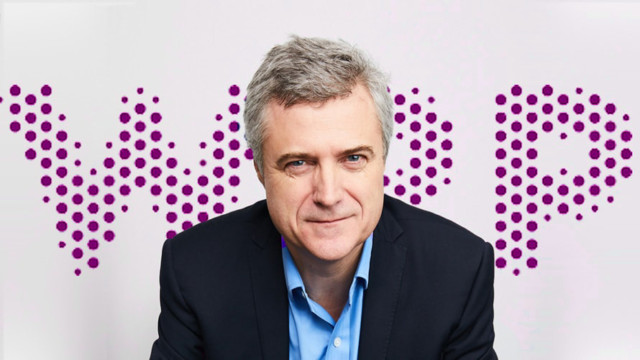Photo of the WPP logo and CEO Mark Read