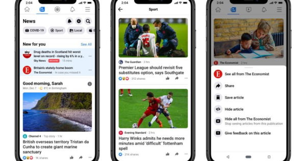Facebook News Stand-Alone Tab Rolls Out in UK