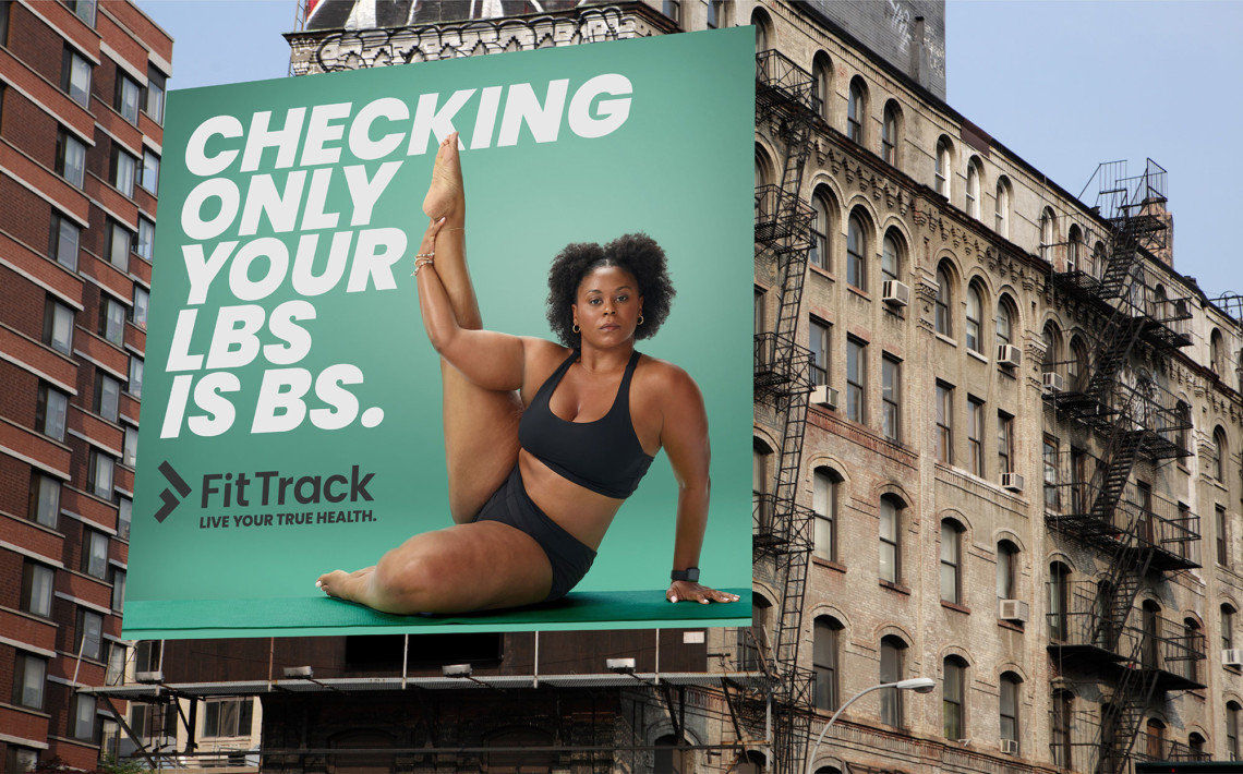 FitTrack billboard