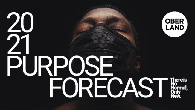 a black man with a black mask on that says 2021 purpose forecast