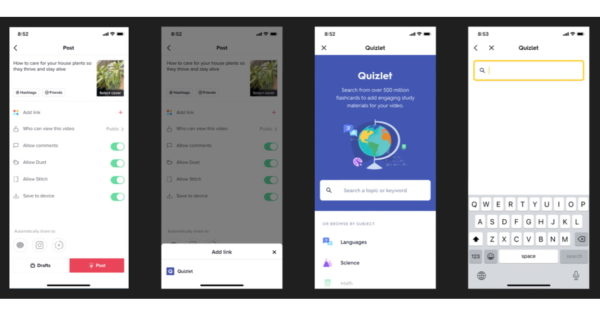 Quizlet's Integration With TikTok Lets Education Creators Add Study Sets, Flashcards