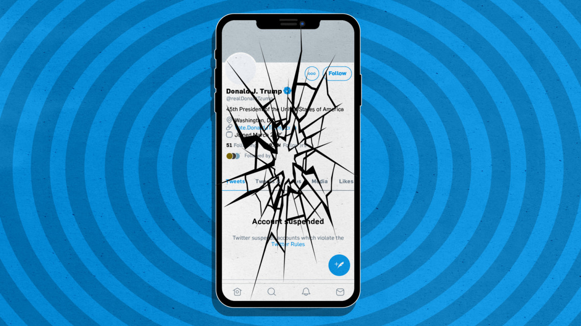 Illustration of a cracked smartphone