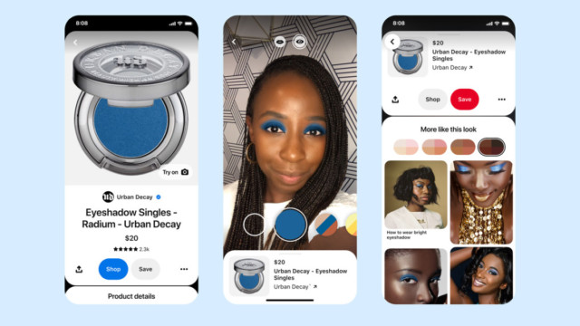 Virtually Sample 4,000 Shades of Eyeshadow With Pinterest's New AR Try-On Feature