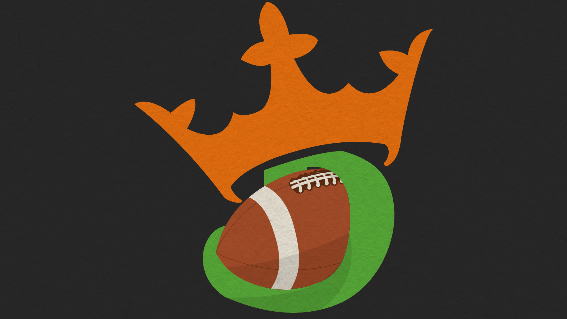a football with an orange crown