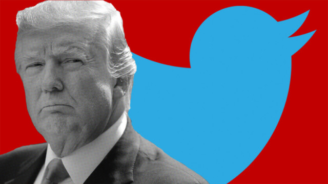 Photo of Donald Trump and the Twitter logo
