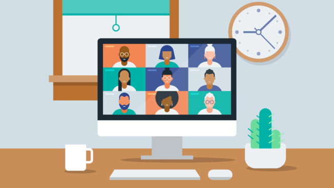 Illustration of a virtual meeting