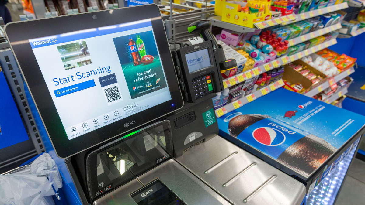 Photo of Walmart checkout
