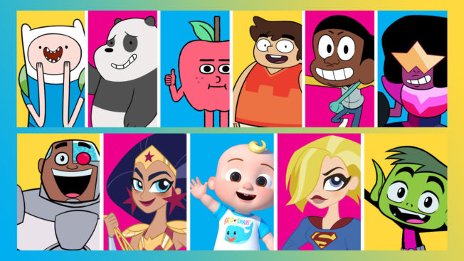 a series of different cartoon characters