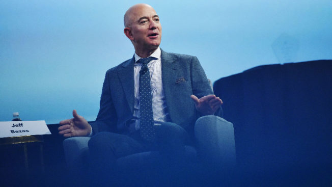 photo of jeff bezos talking at an event