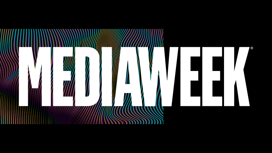 Large white letter that spell out Mediaweek