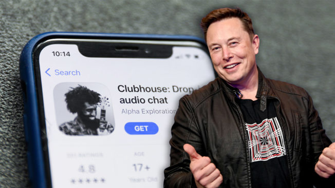 elon musk clubhouse